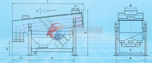 直线筛结构简图